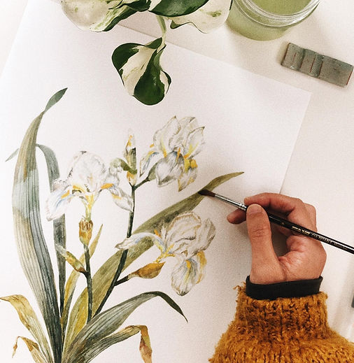 painting lilies
