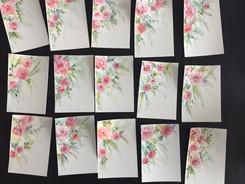 Watercolour postcards