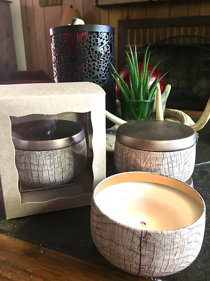 PRE-ORDERS ONLY - 6oz rustic candle tin