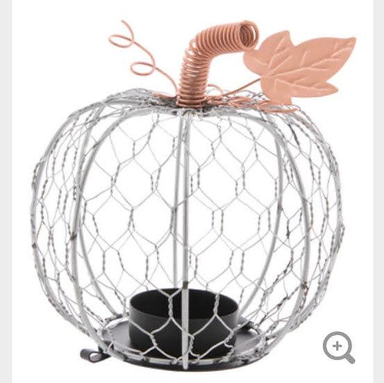 Chicken Wire Pumpkin Tea Light Holder
