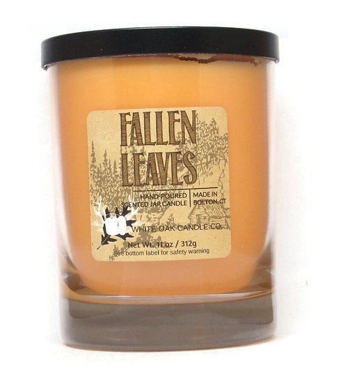 Fallen leaves scented jar candle