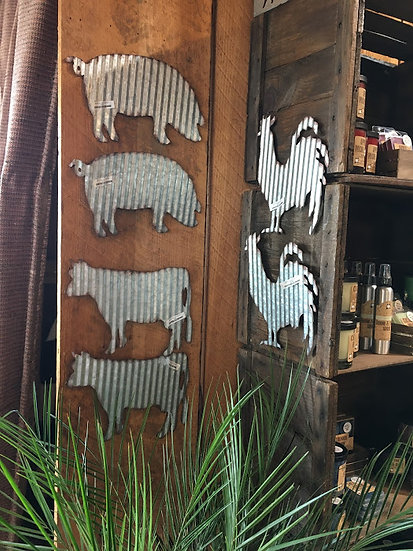 Corrugated Metal Wall Decor