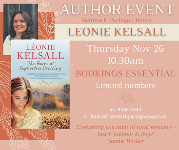 Renmark Library Author Event Leonie Kels