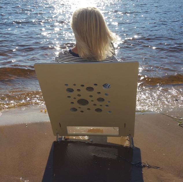 AngelBoo   American Made   Durabe Folding Beach Chair