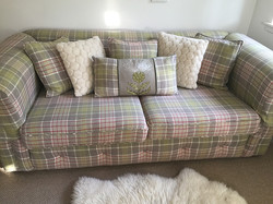 2 seater mock Chesterfield sofa bed