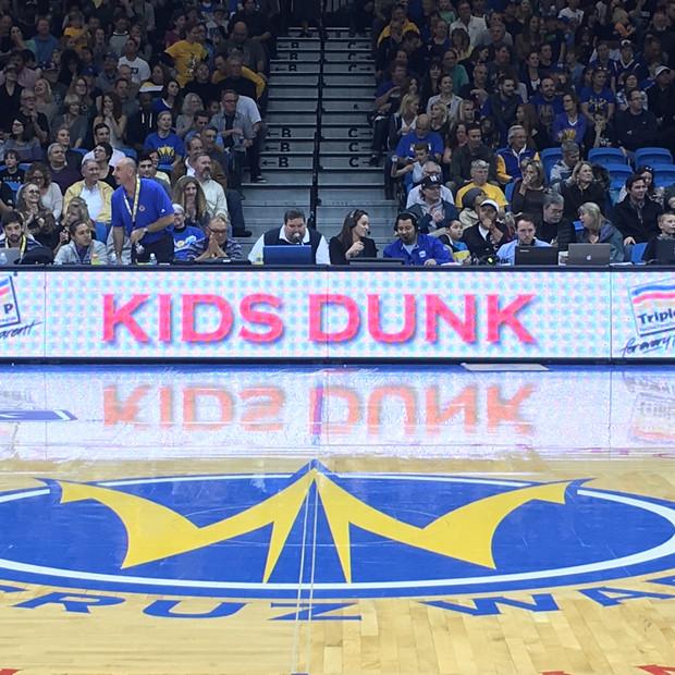 Kids Dunk sponsorship @ SC Warriors game
