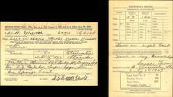 Sylvester Lewis draft card and registrar