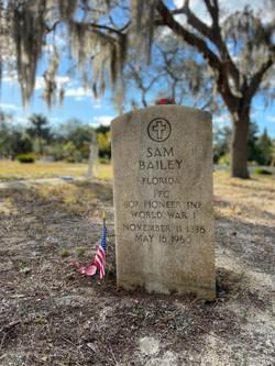 Sam Bailey Veteran Memorial