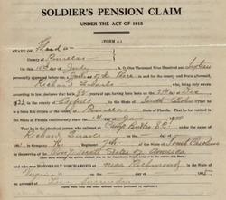Richard Quarles Confederate pension claim