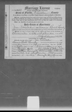 Joe Welsh Marriage Application