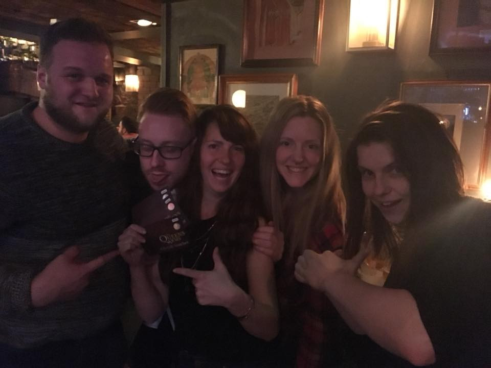 The Queens Arms Quiz Winners