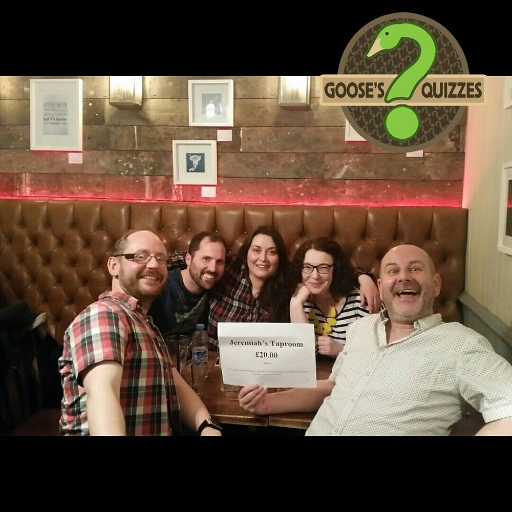 Jeremiah's Taproom Quiz Winners