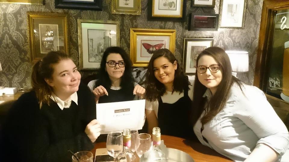 AMber Rose Pub Quiz Winners