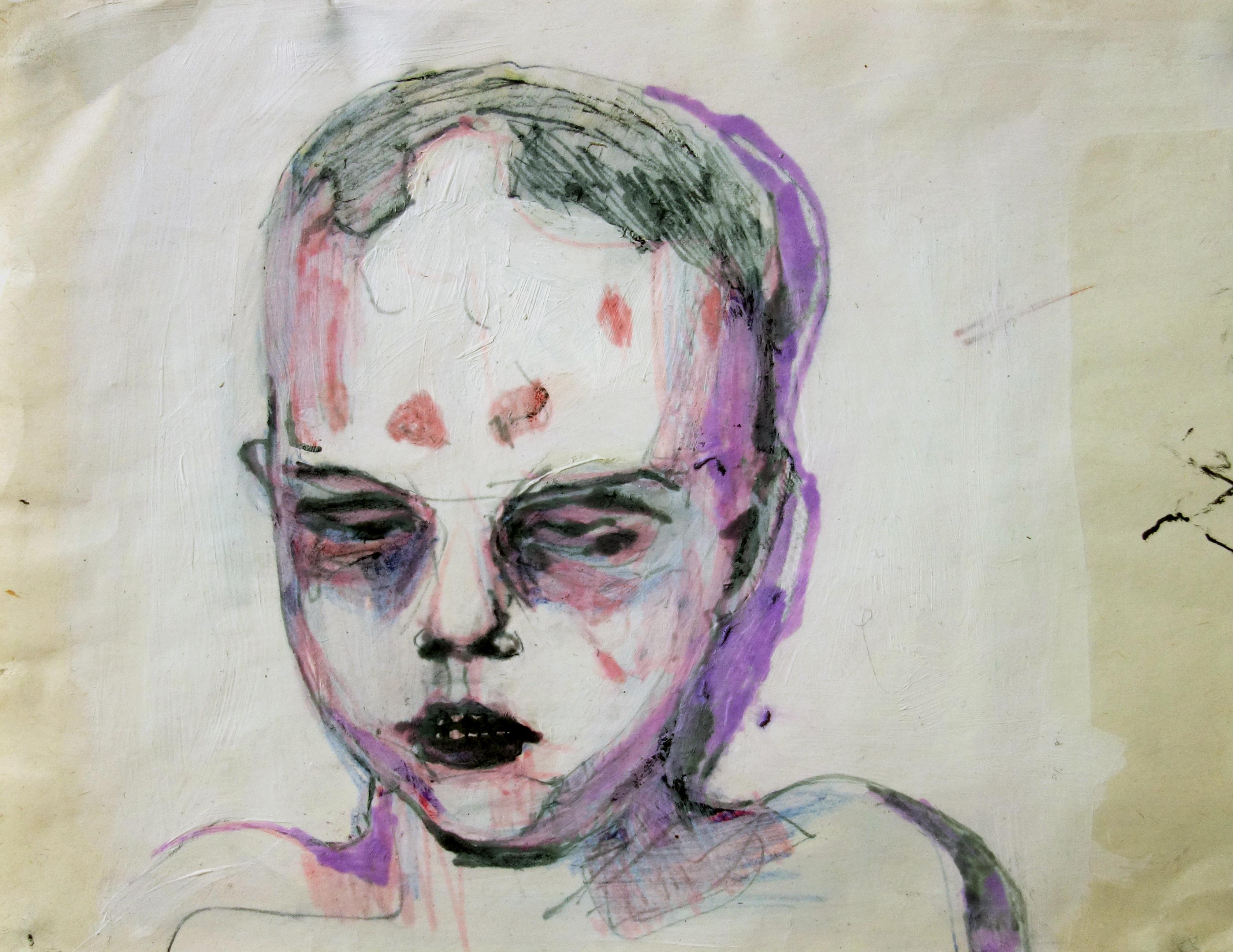 Boy in the Box - head study I - sketch