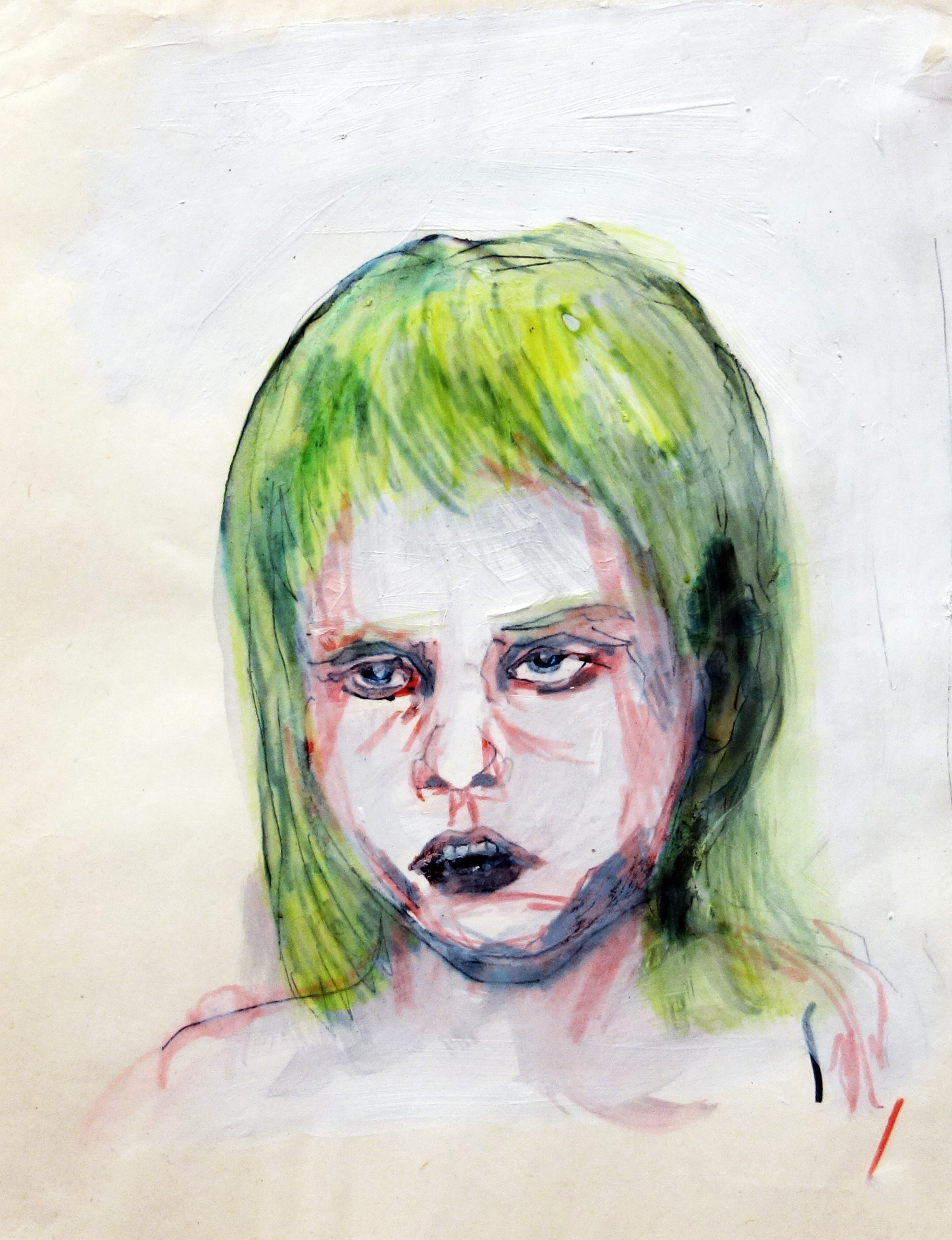 Boy in the Box - head study V - like a girl - sketch