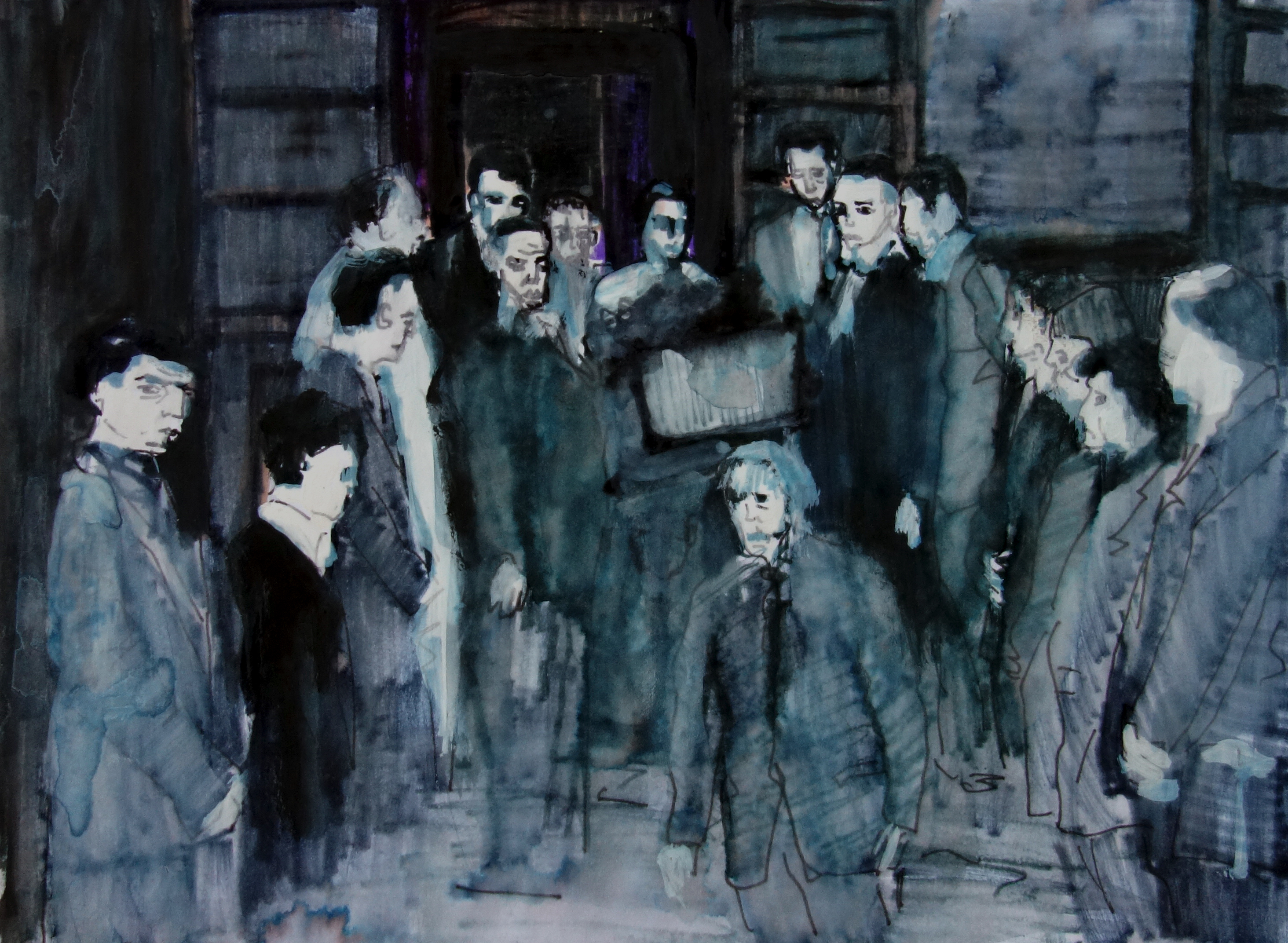 Boy in the box - farewell  - sketch