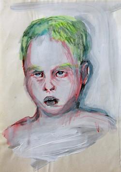 Boy in the Box - head study II - sketch