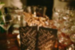 Antique Style Calligraphy l Dinner Celebration