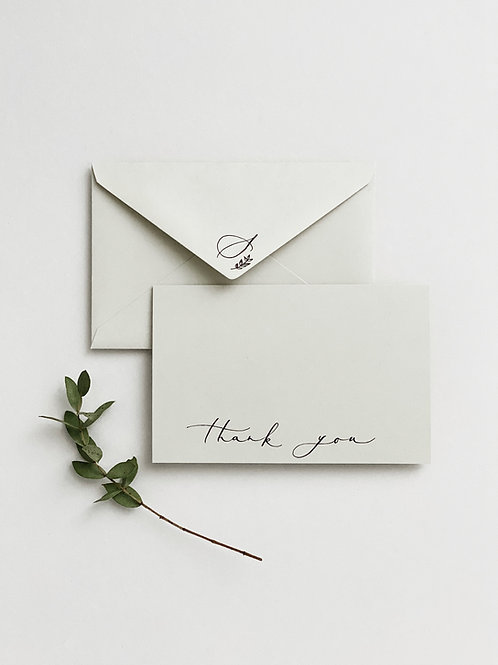 Personalised Thank You Card - Set of 10 Pieces