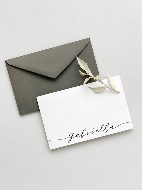 Personalised Note Cards - Set of 10 Pieces