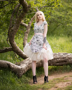 Glamour & Portrait Photography with sammie showing off her 50s dress and flowing petticoat
