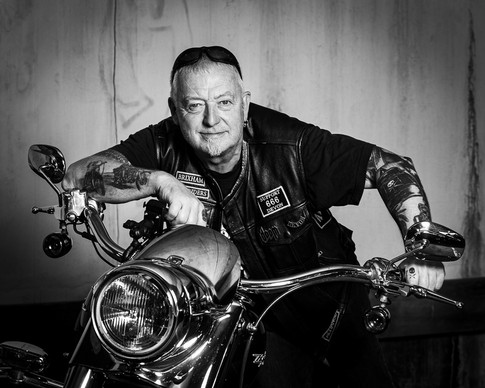 Tattoo Photography with a Biker and His Harley