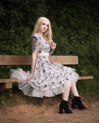 Glamour & Portrait Photography with Sammie showing off her new petticoat