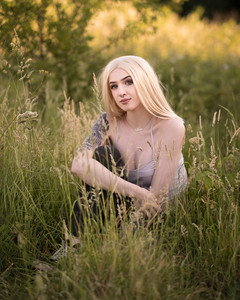 Natural Light Portrait Photography with Sammie relaxing in the grass