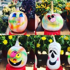 Hand painted pumpkins