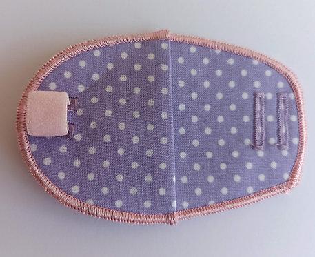 Dotty Lilac Children's Fabric Reusable Eye Patch