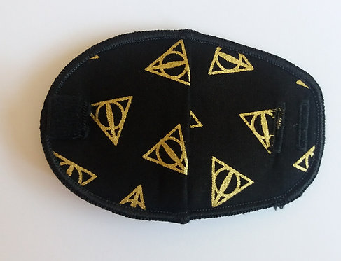 Harry Potter Deathly Hallows Children's Fabric Reusable Eye Patch