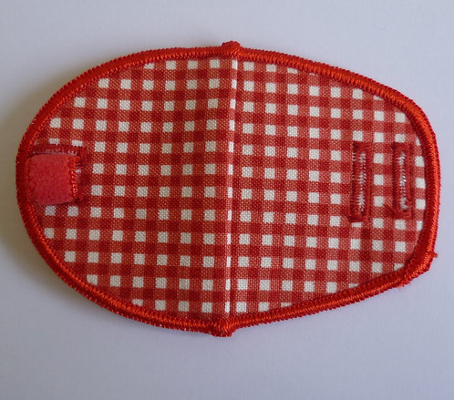 Red Gingham Children's Fabric Reusable Eye Patch
