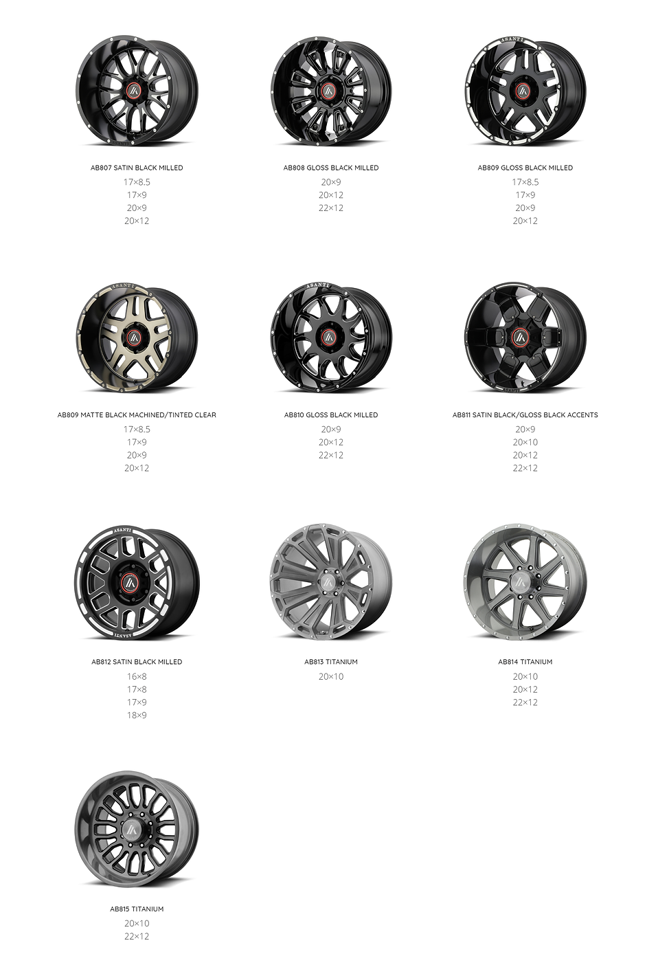 ASANTI OFFROAD WHEELS GOLD COAST