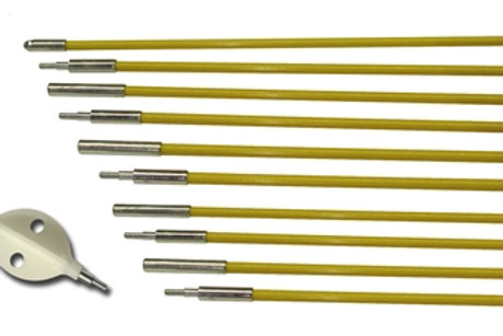 Cable Tray Kit (48' of rods & Wisp Head in Carry Case)