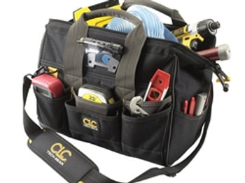 """29 Pocket Lighted 14"""" Closed Top Tool Bag"""