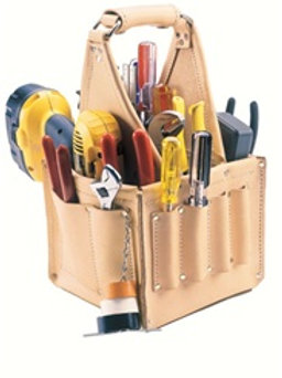 17 Pocket Top Grain Leather Electrical & Maintenance Tool Pouch