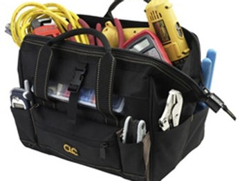 """16 Pocket 12"""" Tote Bag with Top Plastic Tray"""