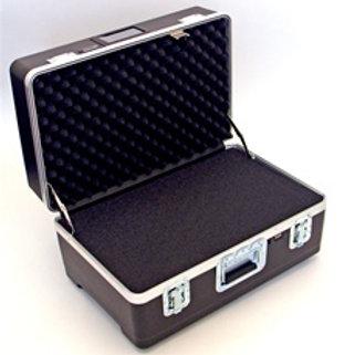 "Heavy Duty Polyethylene Case with Wheels & Telescoping Handle 24 1/2"" x 16"" x 13"