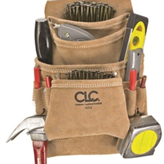 10 Pocket Heavy-Duty Suede Carpenter's Nail & Tool Bag