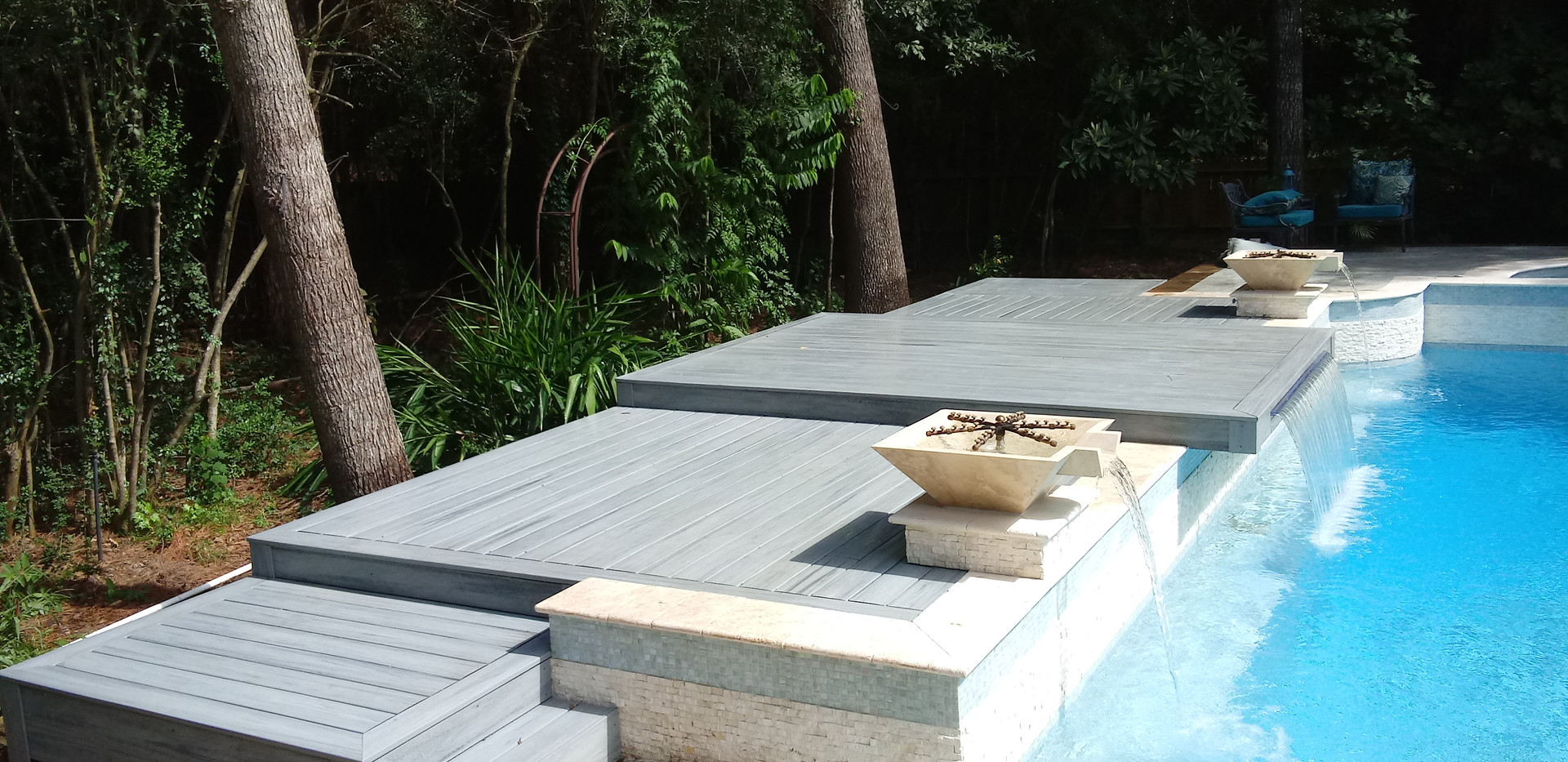 waterfall deck