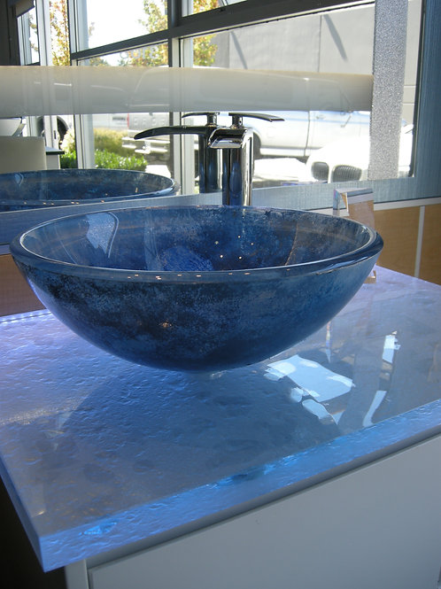 Blue Translucent Sink
