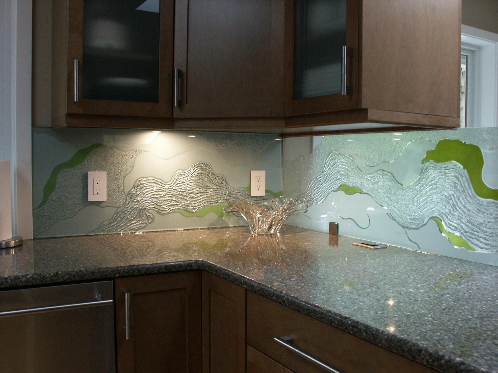 - Studio G3 Glass Vancouver Glass Backsplash Backpainted Glass Wall  