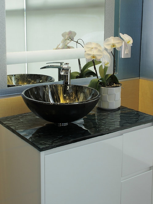 Linear Swipe Black Sink