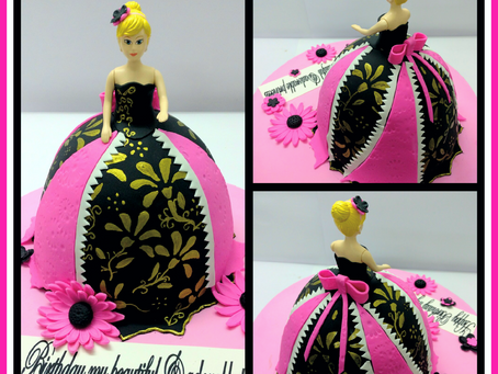 The most Beautiful Barbie Doll Cake Ever !
