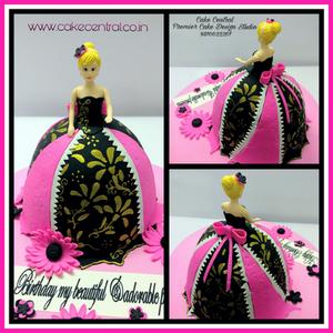Barbie Doll Cake Delhi , Princess Cake Delhi , 4D Barbie Cake , Barbie Princess Theme Fondant Cake ,  3D Designer Barbie  Cake , Barbie Doll shaped Birthday Cake  -  Cake Central –Premier Cake Design Studio  Delhi  . New Delhi .