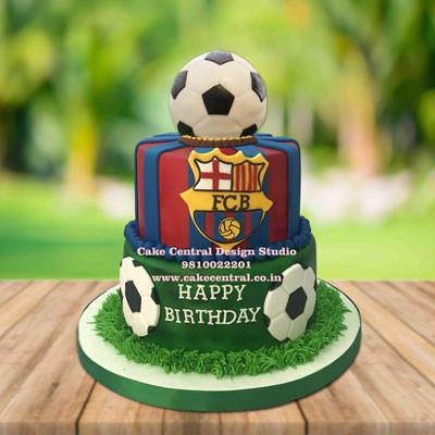 FC BARCELONA THEME CAKE, fcb cake in Delhi Online