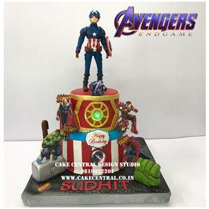 Avengers Theme BIrthday Cake Delhi Online