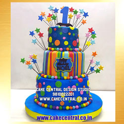 Little Man 1st Birthday Cake Delhi
