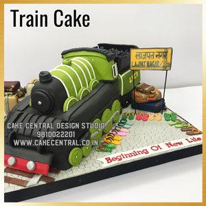 Order Train Cake Design Delhi Online
