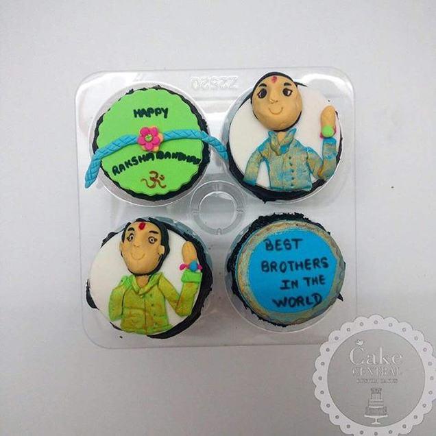 Festive / Holi / Diwali Themed Birthday CupCake By Cake Central - Premier Cake Design Studio . New Delhi